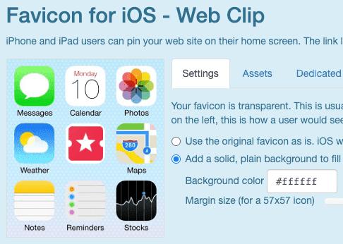 Favicon для iOS