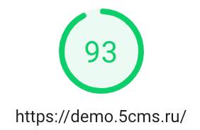 Скорость загрузки 5CMS